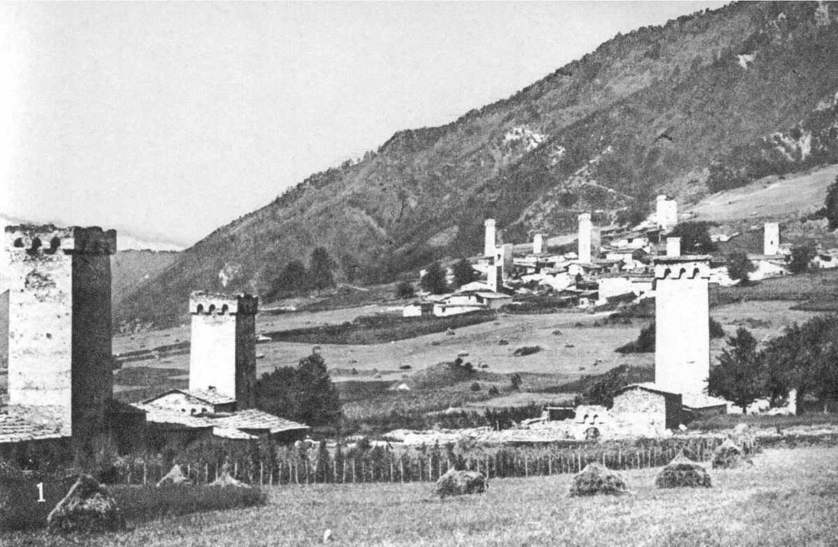Mestia nel 1890. Fonte: Wikipedia