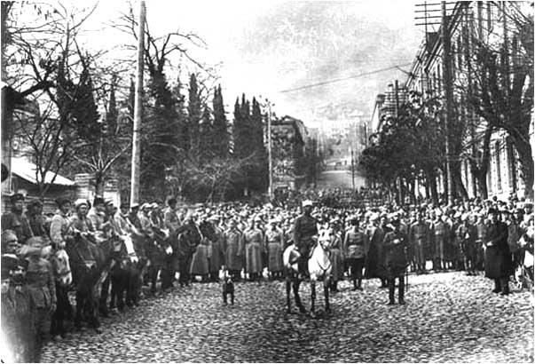 Ingresso dell'Armata Rossa in Tbilisi nel 1921. Fonte: Wikipedia