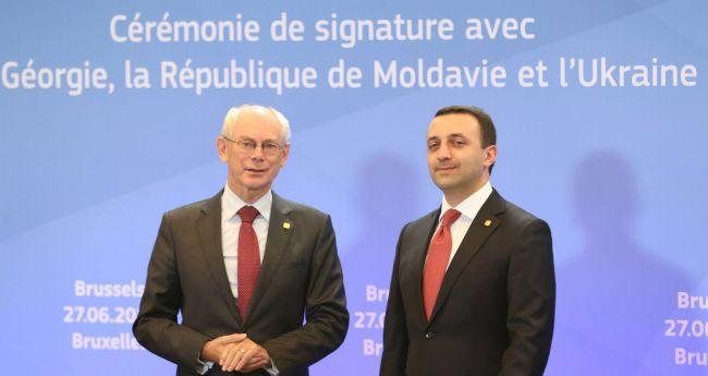 Herman Van Rompuy e Irakli Garibashvili Foto: government.gov.ge