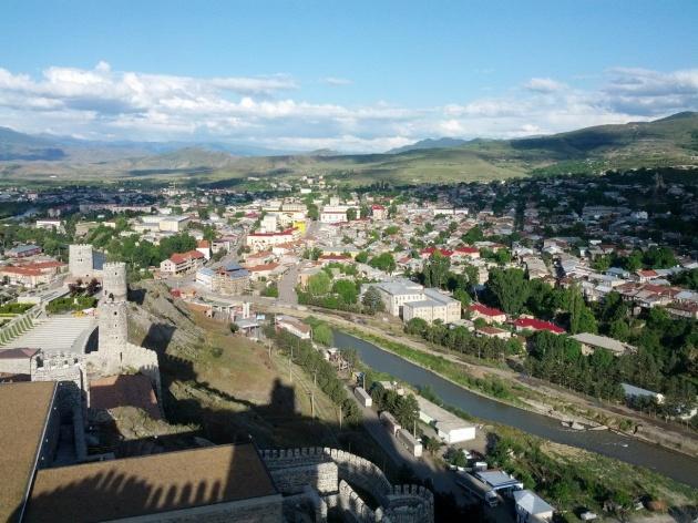 Vista sul versante meridionale di Akhaltsikhe. Foto: sweet.ge